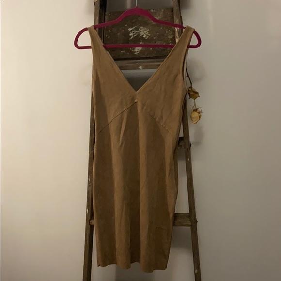 Wilfred Free suede brown dress